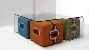 Colorful Ottoman Coffee Table