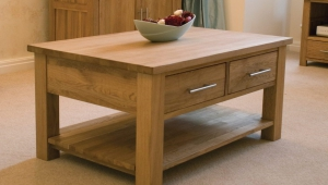 Compact Solid Wood Coffee Table