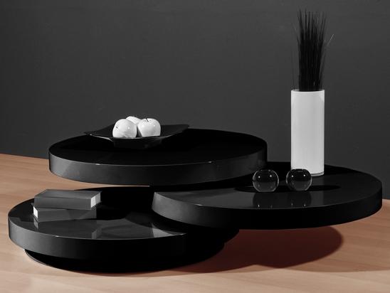 Contemporary Black Coffee Table