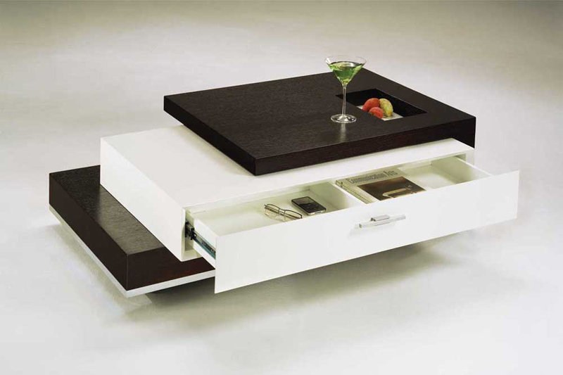 Contemporary Coffee Table With Drawers
