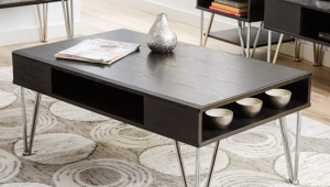 Contemporary Coffee Table With Shelf