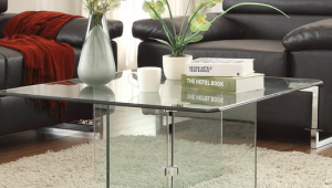 Contemporary Fully Glass Coffee Table