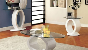 Contemporary Glass Coffee Table Circle Form