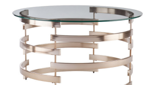 Contemporary Glass Coffee Table With Use Of Metal