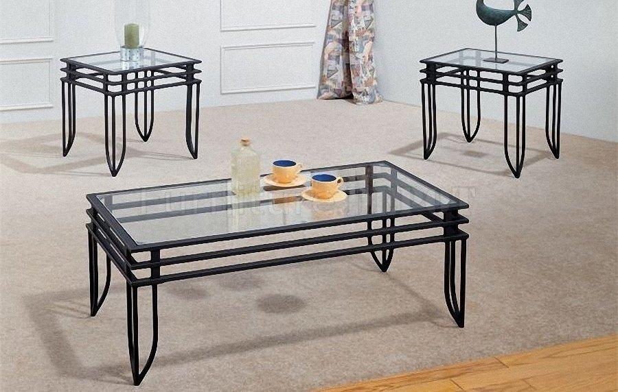 glass and metal coffee table design