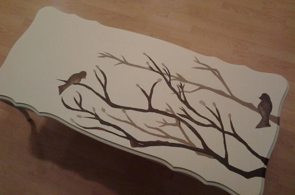 Creative Painted Coffee Table
