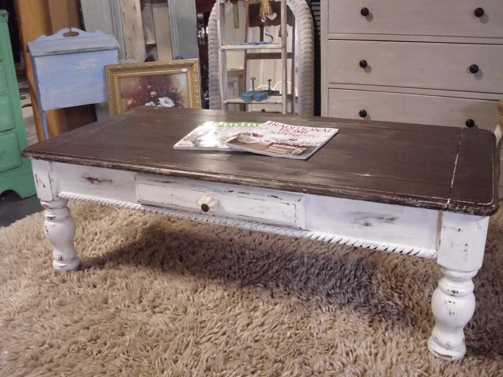 DIY Distressed Coffee Table