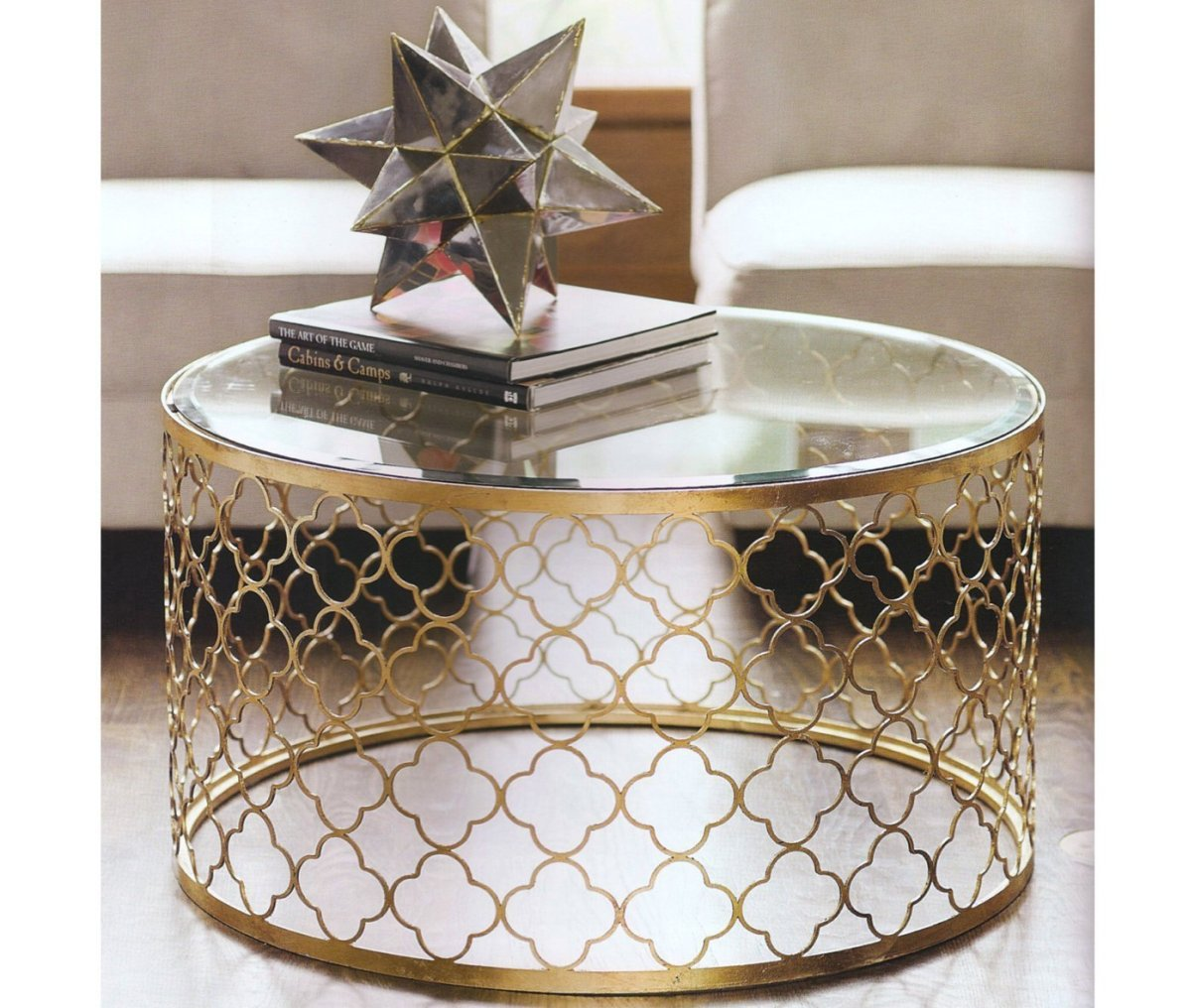 Drum Gold Coffee Table
