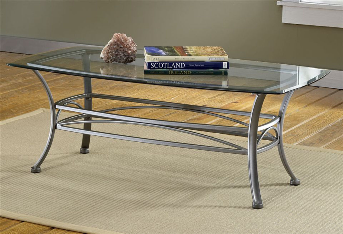 - Easy Glass And Metal Coffee Table