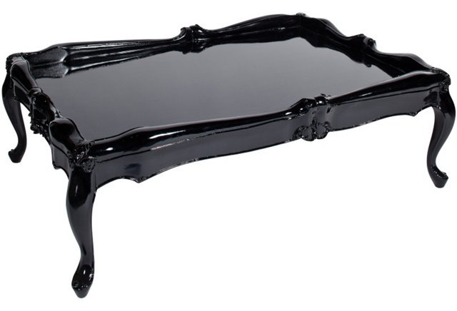 Elegant Black Lacquer Coffee Table