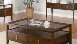 Elegant Coffee Table With Shelf And Drawers Idea