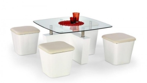 Elegant Coffee Table With Stools