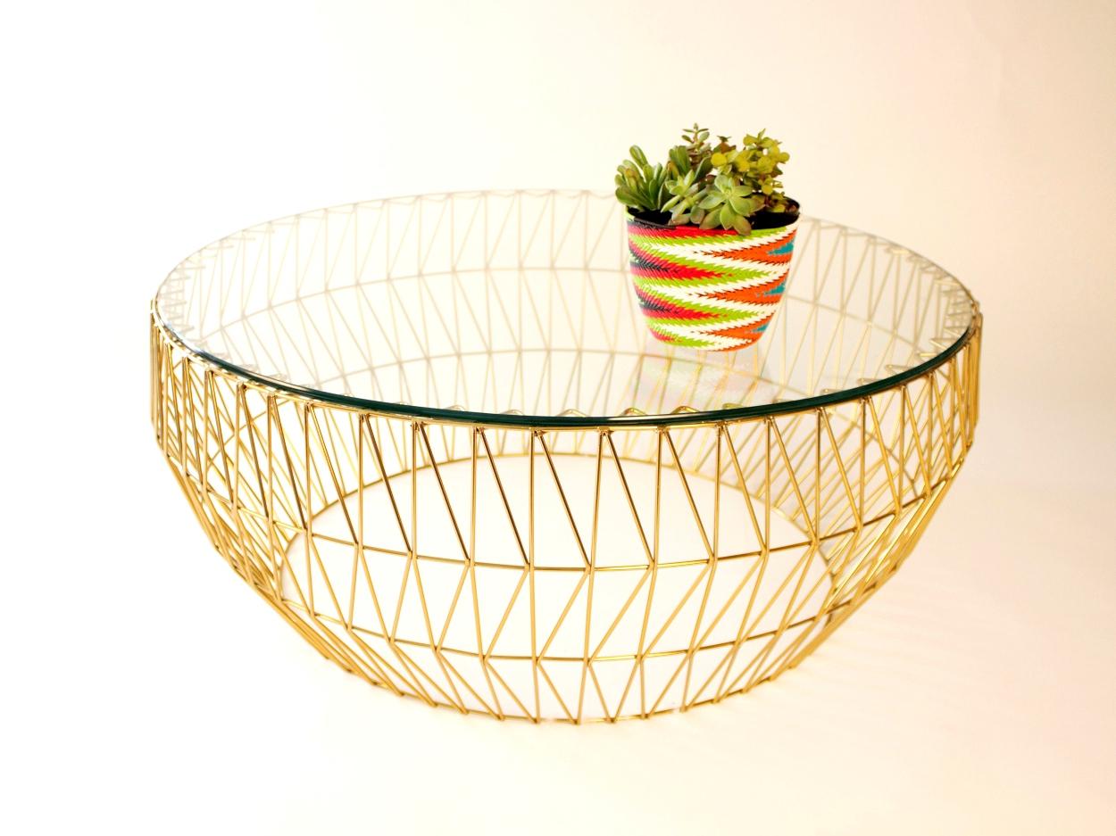 Elegant Gold Coffee Table