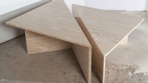 Elegant Travertine Coffee Table