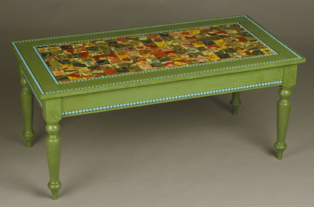 Exotic Painted Coffee Table