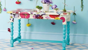 Flower Painted Coffee Table