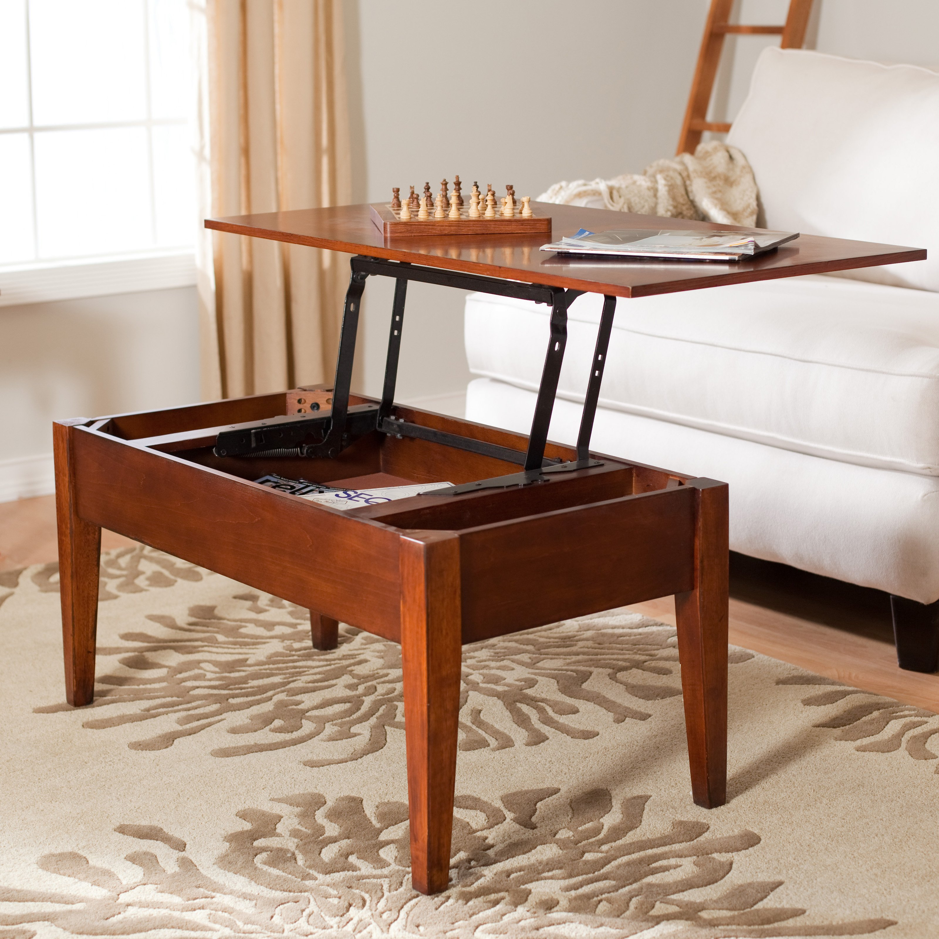 Fold Out Coffee Table With Lift Top