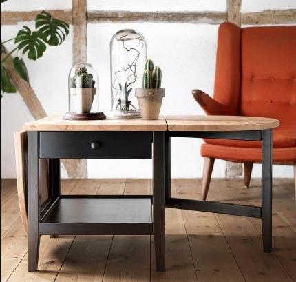 Folding Drop Leaf Coffee Table