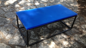 Framed Blue Coffee Table