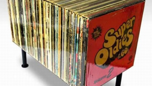 Funky Vinyl Records Coffee Table