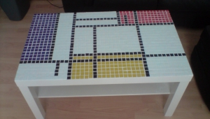 Geometric Mosaic Coffee Table