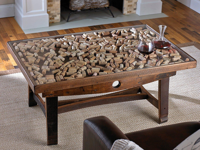 Glass Display Cork Coffee Table