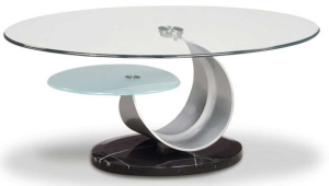 Glass And Metal Coffee Table Oridinal Design