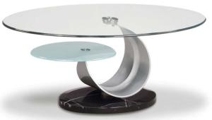 Glass And Metal Coffee Table Oridinal Design