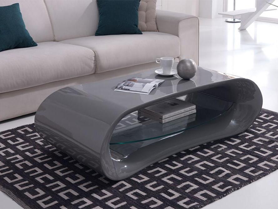 Glossy Grey Coffee Table