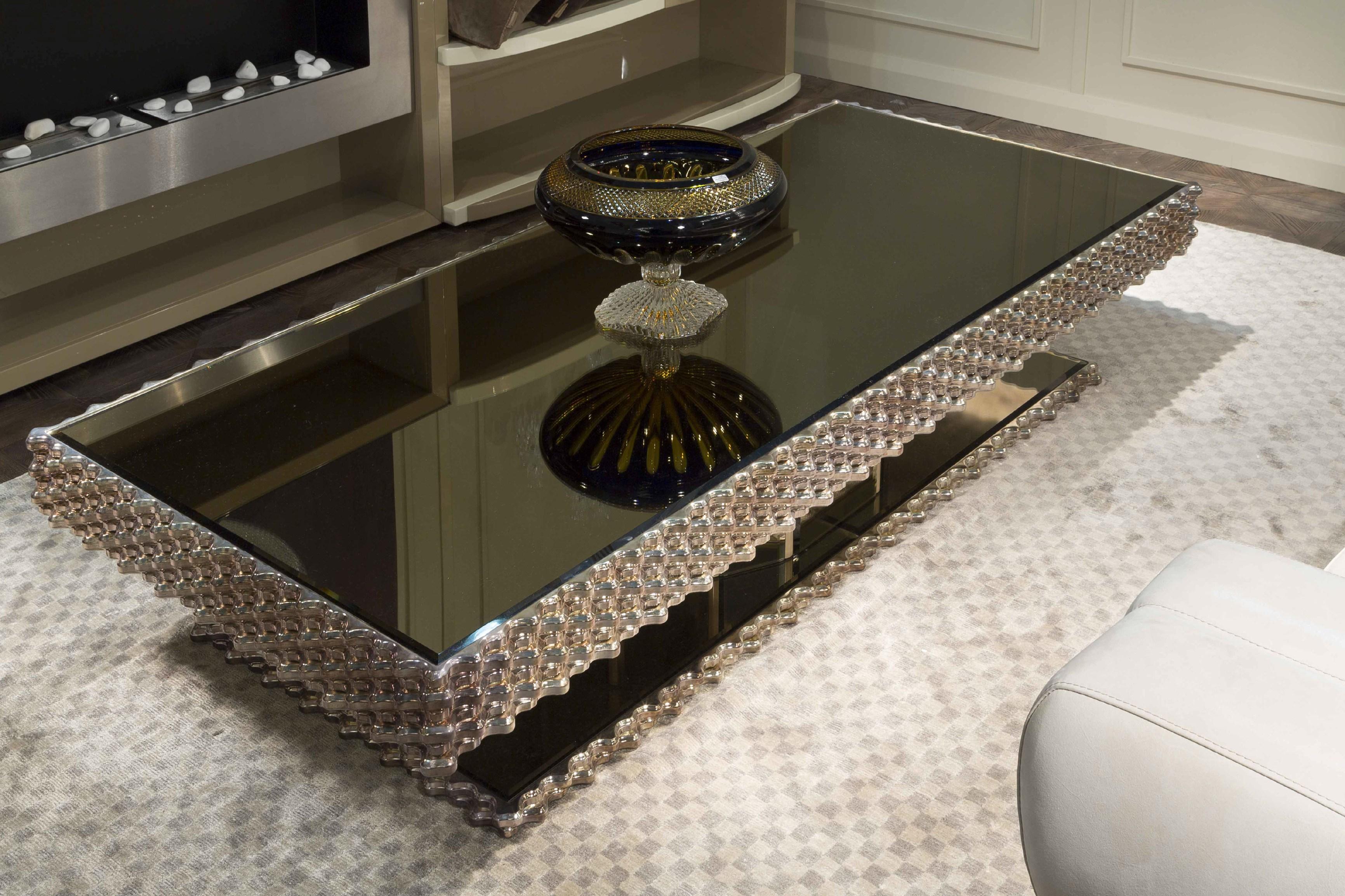 Glossy Rectangular Coffee Table