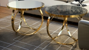 Gold Coffee Tables Set