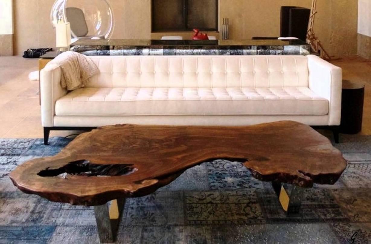 Gorgeous Wood Slab Coffee Table
