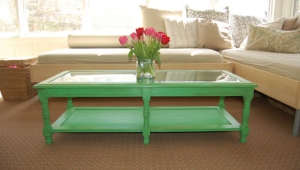 Green Painted Coffee Table