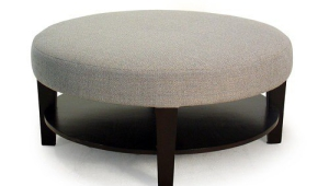 Grey Upholstered Coffee Table