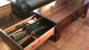 Gun Storage Coffee Table