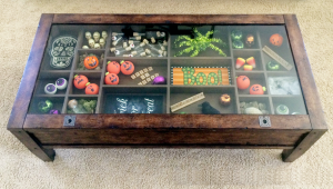 Halloween Glass Display Coffee Table