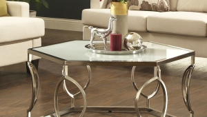 Hexagonal Metal Overstock Coffee Table