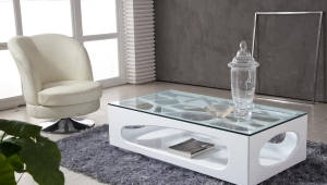 Idea For Modern Glass Top Coffee Table