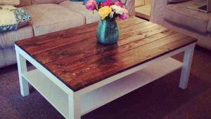 Ikea Hack Lack Coffee Table With Vase