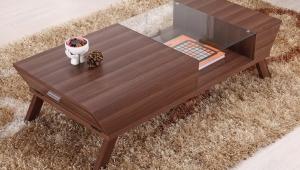 Innovative Walnut Coffee Table