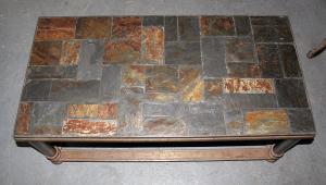 Iron And Slate Coffee Table