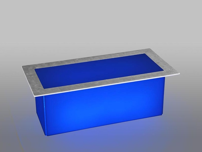 LED Blue Coffee Table