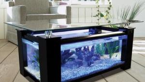 Large Aquarium Coffee Table
