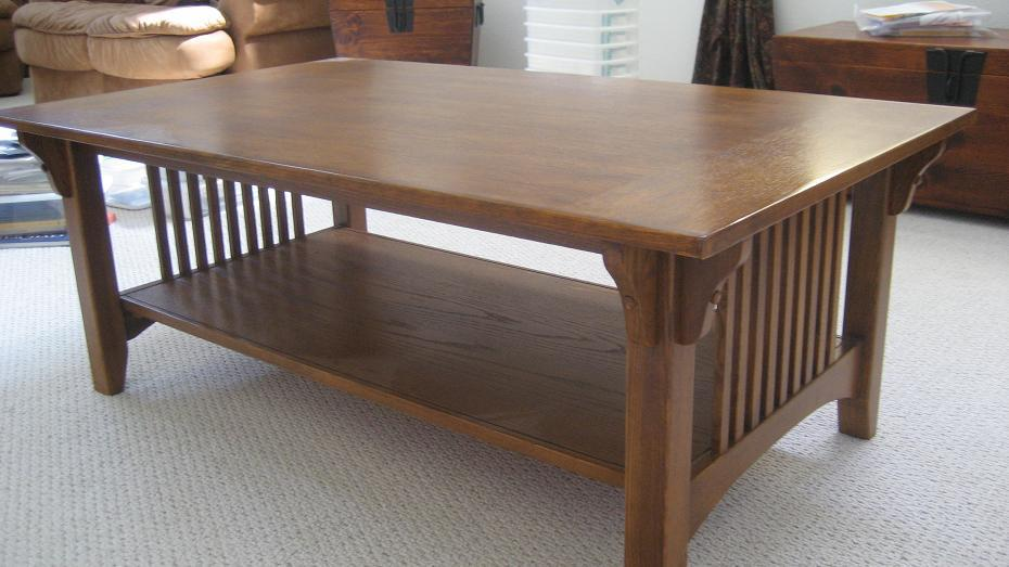 Large Mission Coffee Table