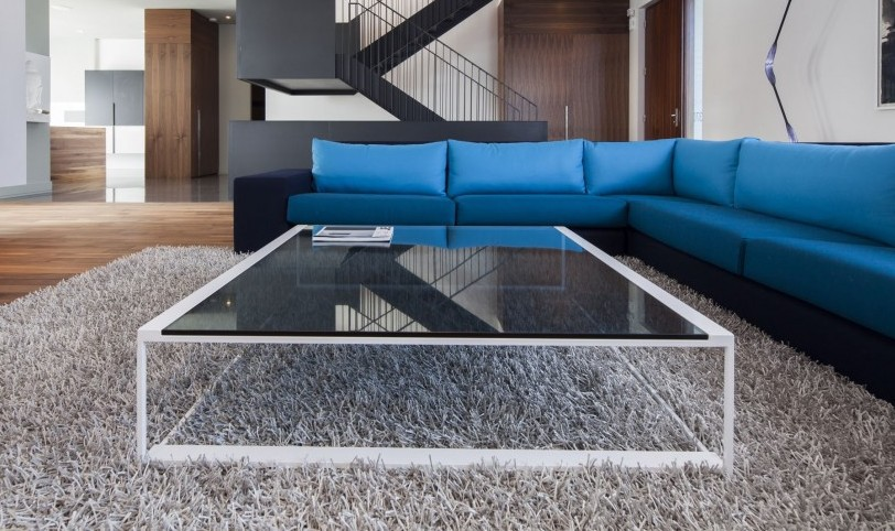 Large Modern Glass Coffee Table