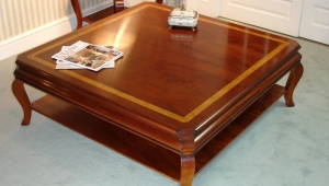 Large Redwood Coffee Table