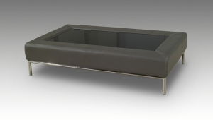 Leather Grey Coffee Table