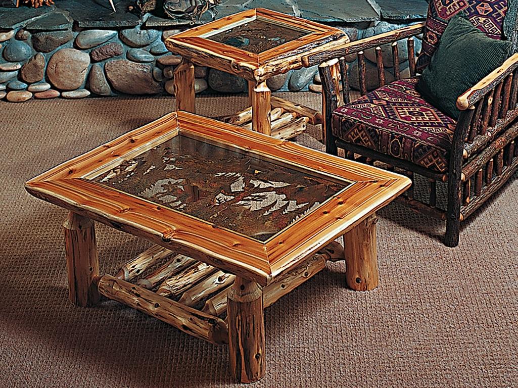 Log Coffee Table Decor