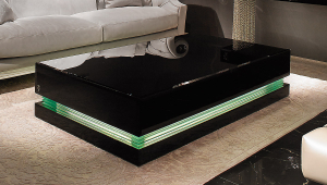 Luxury Black Lacquer Coffee Table