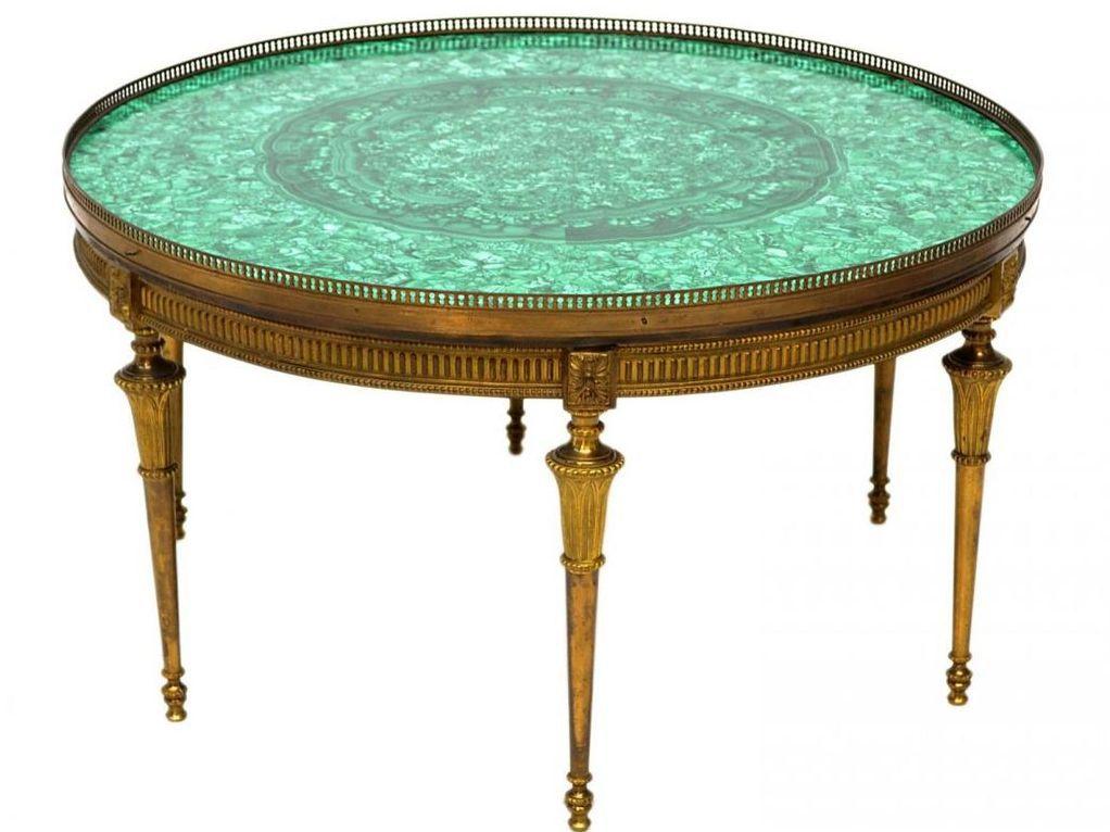 Malachite Brass Coffee Table